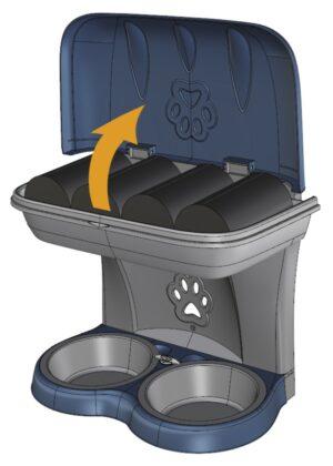 BAMA PET миска для собак настенная двойная  бежевая