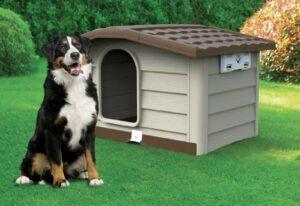 BAMA PET будка для собак BUNGALOW , пластик, бежевая