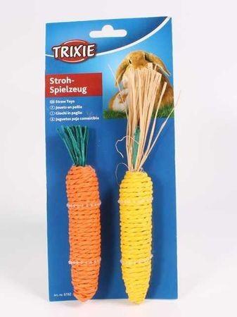 TRIXIE 2 шт х15 см набор для грызунов морковь и кукуруза сизаль 1х4