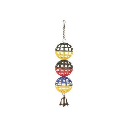 TRIXIE игрушка для птиц пластиковые шарики с колокольчиком
