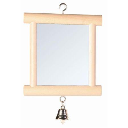 TRIXIE 9 см х 10 см зеркало для птиц деревянное с колокольчиком 1х4