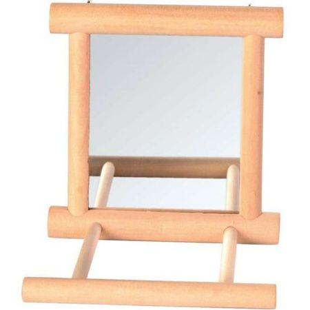 TRIXIE 9 см х 9 см деревянное зеркало с жердочкой 1х4