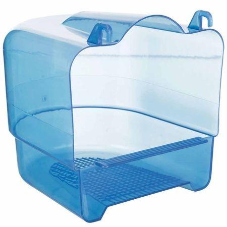 TRIXIE  купалка для птиц голубой прозрачный пластик