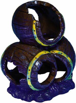 GloFish Бочки - декорация с GLO-эффектом