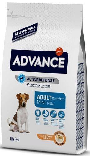ADVANCE MINI ADULT 3 кг сухой корм для взрослых собак малых пород курица с рисом 1х5