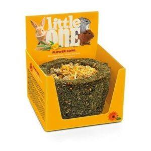 LITTLE ONE 140 г лукошко Лакомства-игрушка для грызунов цветочное съедобное из садовой петрушки и цветков календулы 1х6