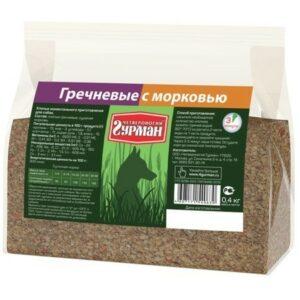 ЧЕТВЕРОНОГИЙ ГУРМАН 1 кг каша гречка с морковкой 1х4