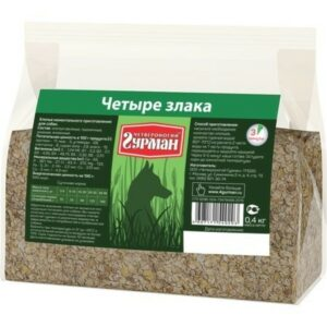 ЧЕТВЕРОНОГИЙ ГУРМАН 1 кг каша 4 злака 1х4