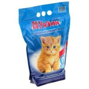 Мурзик силикоцеолитовый наполнитель для кошачьих туалетов