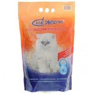 Снежок 4 л силикагель наполнитель для кошачьих туалетов 1х4