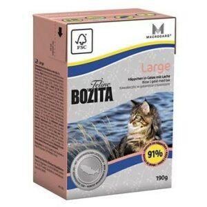 BOZITA Feline Funktion large 190 г консервы для кошек крупных пород кусочки в желе с лососем 1х16