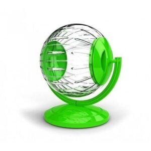 GEORPLAST 12,5 см игрушка для грызунов колесо на подставке шар 1х6