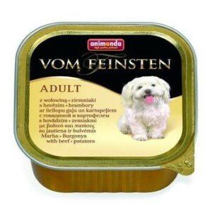 ANIMONDA VOM FEINSTEN MENUE 150 г консервы для собак говядина картошка ламистер 1х22