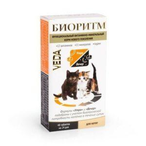 VEDA БИОРИТМ 24 г дополнительный функциональный витаминно-минеральный корм для котят 1х5