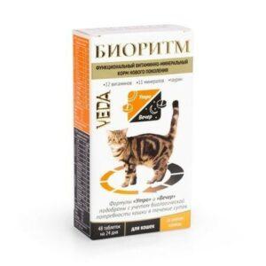 VEDA БИОРИТМ 24 г дополнительный функциональный витаминно-минеральный корм со вкусом курицы для кошек 1х5