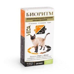 VEDA БИОРИТМ 24 г дополнительный функциональный витаминно-минеральный корм со вкусом кролика для кошек 1х5