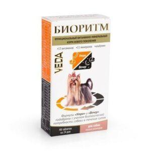 VEDA БИОРИТМ 24 г дополнительный функциональный витаминно-минеральный корм для собак малых размеров 1x5