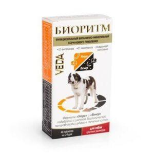 VEDA БИОРИТМ 24 г дополнительный функциональный витаминно-минеральный корм для собак крупных размеров 1x5