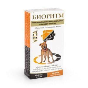 VEDA БИОРИТМ 24 г дополнительный функциональный витаминно-минеральный корм для собак средних размеров 1x5