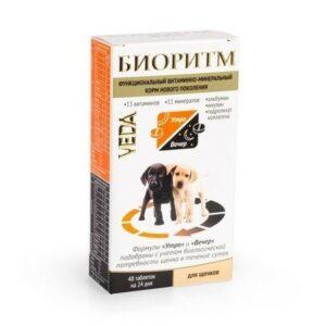 VEDA БИОРИТМ 24 г дополнительный функциональный витаминно-минеральный корм для щенков 1x5