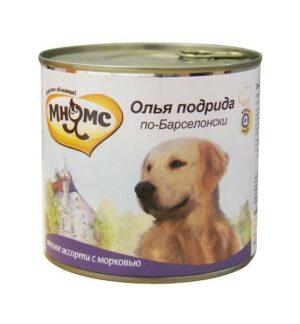 Мнямс консервы для собак Олья Подрида по-барселонски (мясное ассорти с морковью)
