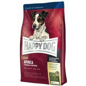 HAPPY DOG Supreme Mini Africa 1 кг сухой корм для собак мелких пород мясо страуса 1х4