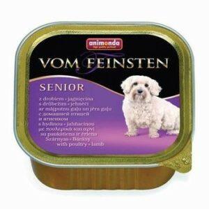 ANIMONDA VOM FEINSTEN SENIOR 150 г консервы для стареющих собак домашняя птица ягненок 1х22