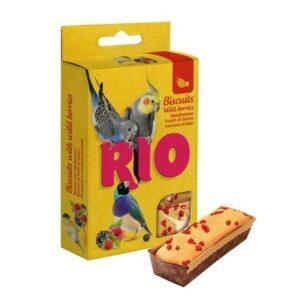 RIO 7 г бисквиты для птиц с лесными ягодами 1х8