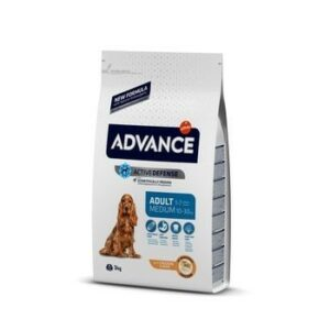 ADVANCE MEDIUM ADULT 3 кг сухой корм для средних собак курица с рисом 1х5