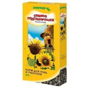 ЗООМИР 200 г семена подсолнечные полосатые 1х18