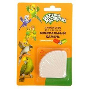 ЗООМИР Веселый попугай 35 г минеральный камень для попугаев с витаминами 1х15