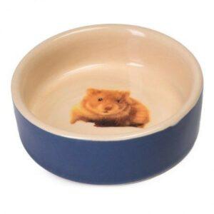 NOBBY   миска керамическая  для хомяка синяя с рисунком