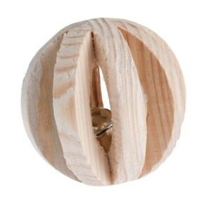 TRIXIE  игрушка для грызунов шар с колокольчиком дерево
