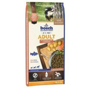 Bosch Adult Salmon & Potato 15 кг полнорационный корм для взрослых собак со средним уровнем активности лосось с картофелем