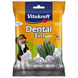 VITAKRAFT DENTAL 3in1 FRESH от 4 кг -10кг 7 шт набор жевательных палочек для собак 1х12