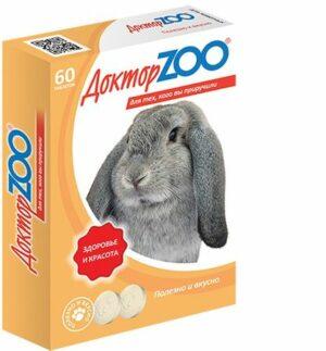 Доктор ZOO 60 таблеток витамины для кроликов 1х6