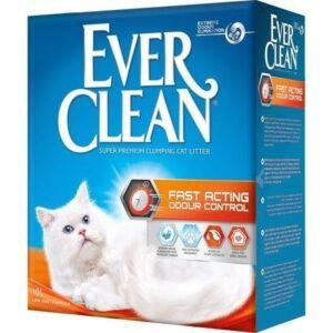 EVER CLEAN Fast Acting 6 л комкующийся наполнитель для кошачьих туалетов быстрого действия