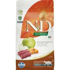 FARMINA N&D GF Pumpkin Adult 300 г корм беззерновой для кошек оленина с тыквой и яблоком1х30