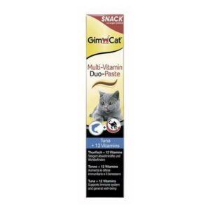 GIMPET Multi-Vitamin Duo  мультивитаминная паста тунец + 12 витаминов для кошек
