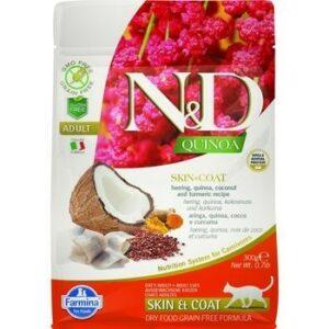 FARMINA N&D Quinoa Adult Skin&coat 300 г корм беззерновой для кошек
