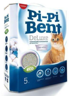 Pi-Pi Bent DeLuxe Clean cotton 5 кг комкующийся наполнитель для кошачьих туалетов 1х4