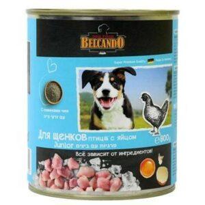 BELCANDO 800 г консервы для щенков с птицей 1х12