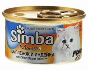 Simba Cat Mousse мусс для кошек цыпленок/индейка