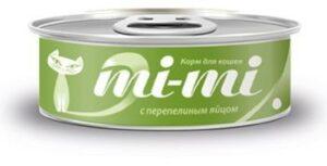 MI-MI 80 г консервы для кошек и котят тунец с перепелиныи яйцом 1х24