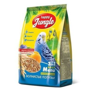 HAPPY JUNGLE 500 г корм для волнистых попугаев 1х14