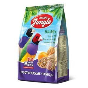 HAPPY JUNGLE 500 г корм для экзотических птиц 1х14