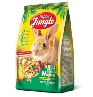 HAPPY JUNGLE 900 г корм для кроликов 1х10