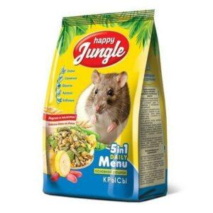 HAPPY JUNGLE 400 г корм для декоративных крыс 1х14