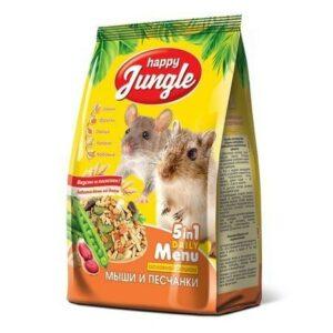 HAPPY JUNGLE 400 г корм для мышей и песчанок 1х14