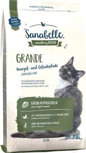 Sanabelle Grande 2 кг корм для взрослых кошек крупных пород 1х4